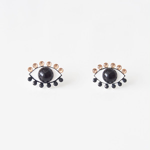 Medama Pierces / Earrings(S) -black-