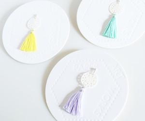 pastel tassel lace(片耳ピアス)