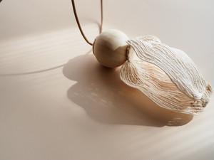 ARRO / Embroidery necklace / KALA / ECRU