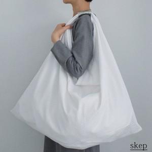 cotton mesh drape bag L:silver (綿メッシュのドレープバッグ L:シルバー)