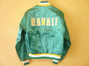 USビンテージ1986年 HAWAIIロゴ ナイロンジャケット スイングスター ほぼデッド/OLDホノルルハワイサテン80s