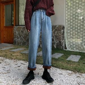【ボトムス】冬裏起毛ファッションスウィートカジュアルニズムパンツ24078280