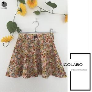 フラワーガーデンフレアスカート size120 【ハンドメイド子ども服 nicolabo】