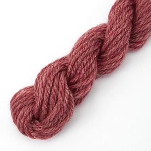手紡ぎ毛糸オーダー シルクメリノ 赤系ツイード ゲージ用サンプル糸(silk_M7)