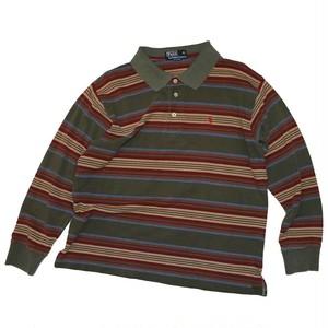 """"""" Polo By Lalph Rauren """" Multi Border L/S Polo Shirts"""