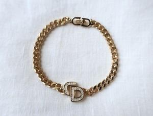 Dior  Rhinestone Logo Bracelet