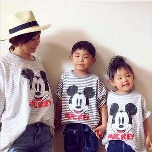 ボーダーミッキーTシャツ(キッズ)