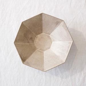 瀬川辰馬 Tatsuma Segawa   硫化銀彩 八角鉢 シルバー