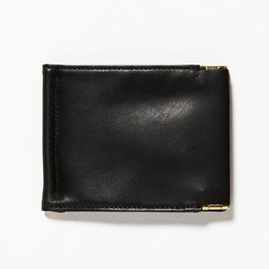 meanswhile Leather Money Clip/OFF BLACK