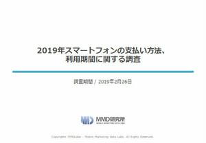 2019年スマートフォンの支払い方法、利用期間に関する調査【MMD調査報告】