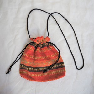 残り1点!Ethnic Purse《ORANGE》