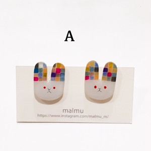 malmu うさぎさんプラ板ピアス&イヤリング(新宿店)