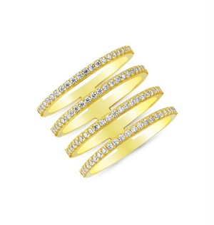【AMORIUM】Four Lines Ring in Gold