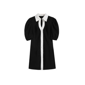 monotone shirt dress