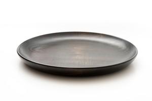黒拭き漆 平皿(大)