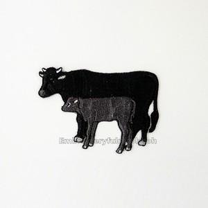 和牛の親子 牛 刺繍ワッペン