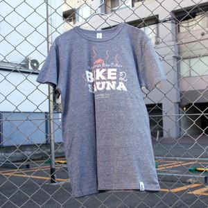 Bike2sauna T-shirts(Tシャツ) hand-printed by Tentsaunaparty