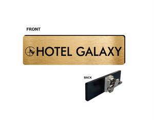 HOTEL GALAXYネームプレート