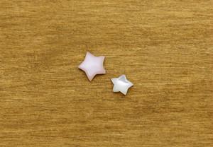 白蝶貝とピンクシェルのスターカボション ルース