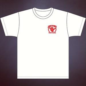 Ahoka From Osaka Tシャツ ホワイト×レッド胸ポイント