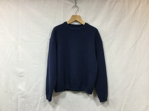 "crepuscule "" Womens Moss stitch L/S sweat  "" Blue"