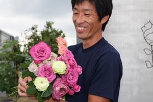 Art Rose.6選 30本変わり咲きmix (JA遠州夢咲 やぎバラ育種農園)