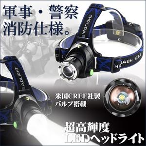 電池式LEDヘッドライト
