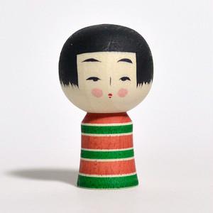 ミニこけし(クリスマス) 約1寸 約3.9cm 鈴木明 工人(作並系)#0202