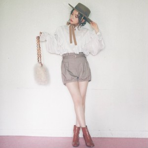 【lottie made】check bloomers short pants (AP34F1003)