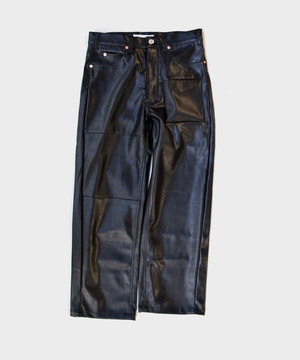 NISH N25 LEATHER PANTS BLACK