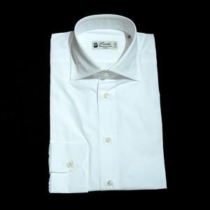 Camiceria Piccirillo 180番手コットン L/S ドレスシャツ - ホワイト