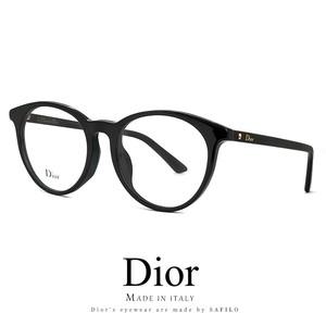 Dior メガネ montaigne53f-807 眼鏡 ディオール Christian Dior ボストン ラウンド 黒縁 丸メガネ