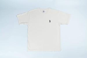 刺繍入りピグメントTシャツ(ナチュラル)