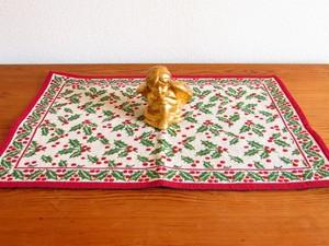 クリスマス★赤い実をつけた柊のテーブルマット [ドイツ]