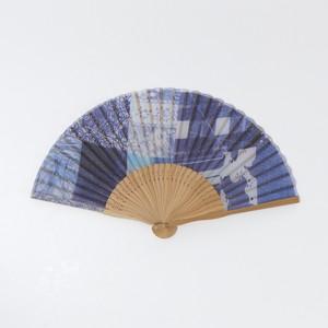 昔ながらの製法で仕立てた綿扇子 - KATAKATA - 2color