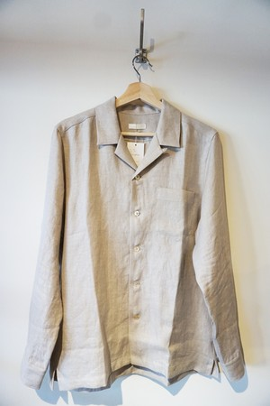 French Linen Open Collar L/S Shirt [Ecru]