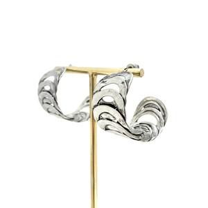 フラットサークルフープピアス silver