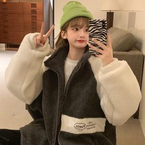 ビッグシルエット暖かボアジャケット