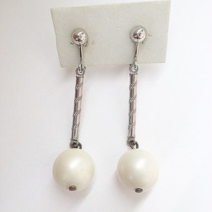 pearl dangle earring[e-980]