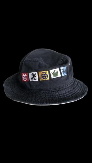 90s old stussy bucket hat