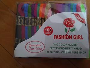 刺繍糸50色100本