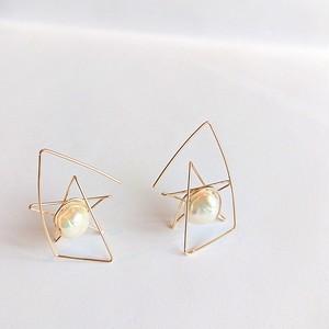 星のピアス✧パールで彩るstar bright jewelry✧