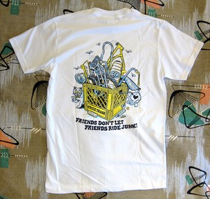 Cycle Trash 20th anniversary T-shirt -White-full color- by Burrito Breath