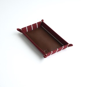BORDER CASH TRAY / WINE RED