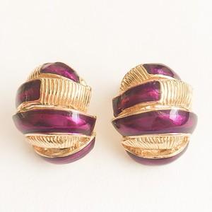 purple & gold earring[e-736]