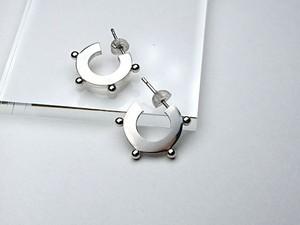 Silver925 サークルドッツ ピアス(S)