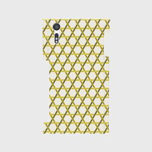 籠目A 側面+裏面スマホケース Android用