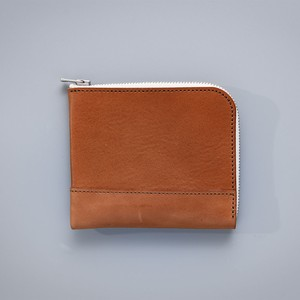 L zip Small Wallet / White Tape