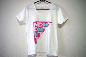"""NDMT""Tシャツ color/ホワイト"