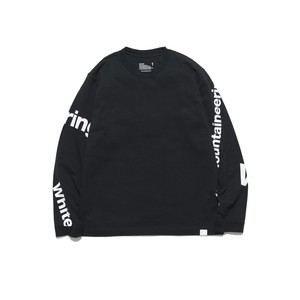 LOGO PRINTED LONG SLEEVE T-SHIRT - BLACK
